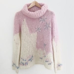 ❄️ RARE Free People Snowflake Mock Turtleneck ❄️